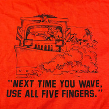 VTG Hanes Heavyweight 50/50 Single Stitch T-Shirt XL USA Mailman Funny Q... - $18.66