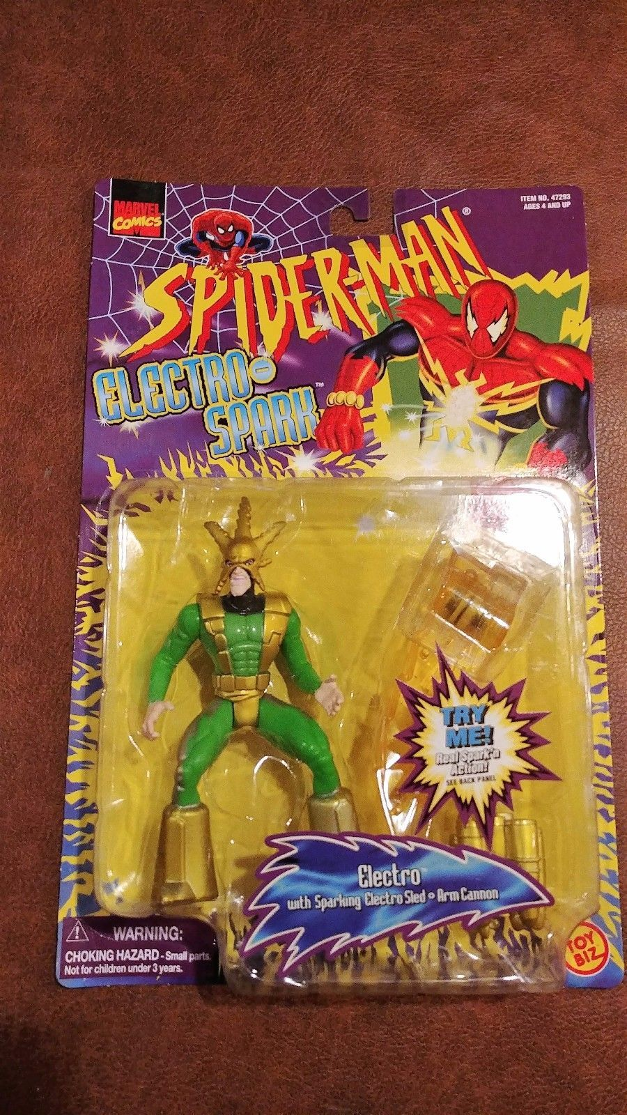 "Spider-Man Electro Spark ELECTRO 5"" with sparking electro sled"