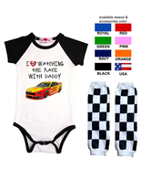 Nascar Onesie Joey Logano Watching With Custom Infant Bodysuit Shirt Outfit - $17.95+