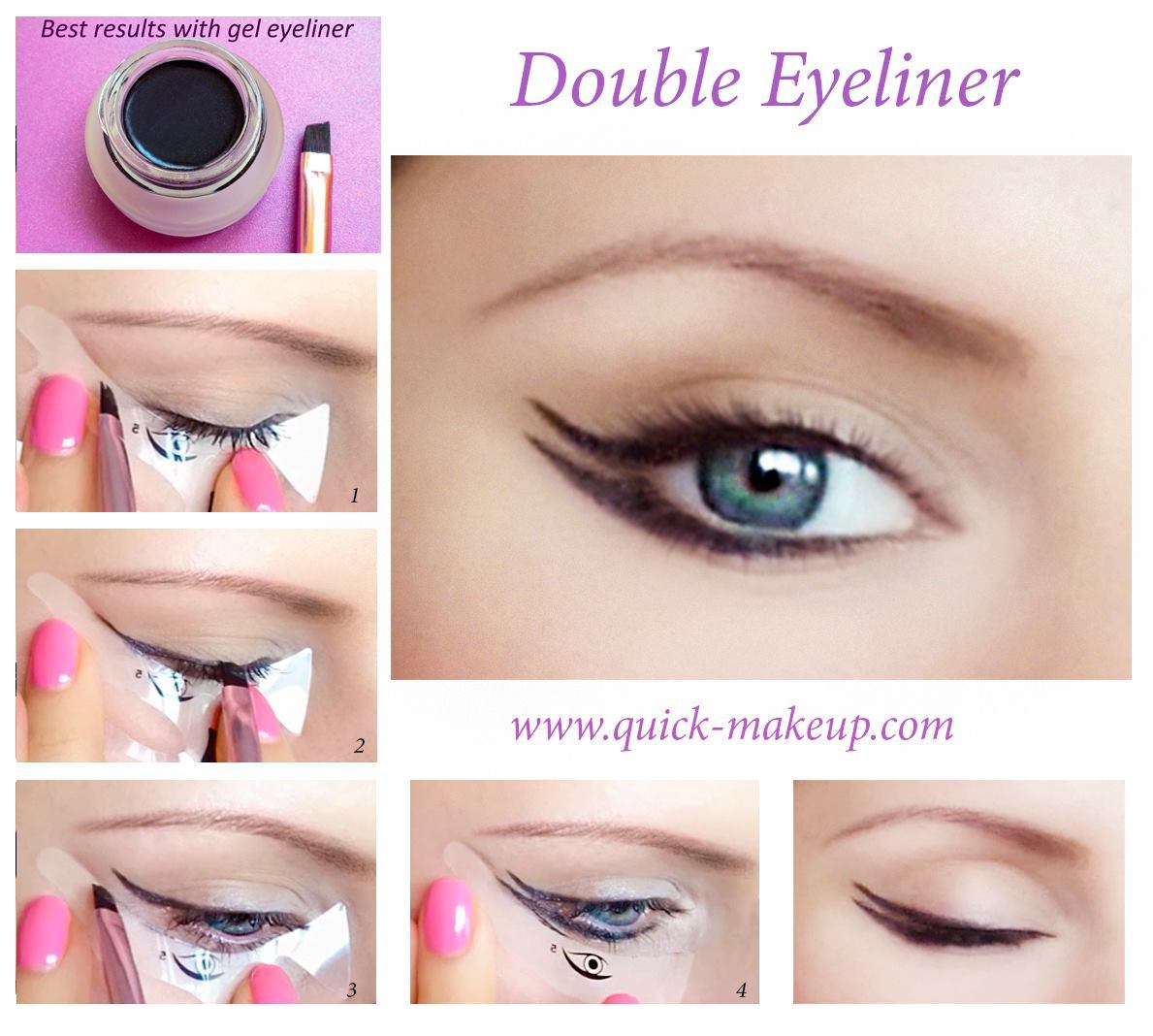 Quick Makeup Stencils - Cosmetic Tool for Applying Eyeliner, Eye Shadow, Eyebrow