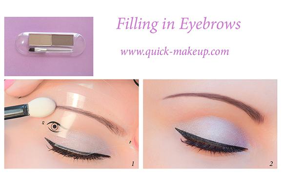 Quick Makeup Stencils - Cosmetic Tool for Applying Eyeliner, Eye Shadow, Eyebrow