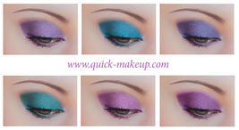 Dramatic eye make up  colors thumb200