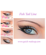 Quick Eye Makeup Stencils Tool for Eyeliner Eyeshadow Eyebrow Free Shipping - $15.00