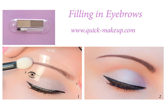 Quick Makeup Stencils - Cosmetic tool for applying eyeshadow, eyeliner, eyebrows