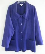 Purple swing jacket Pure silk Loose XS E Emmell... - $39.99
