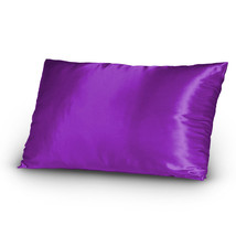 Pair of Satin Lingerie Pillowcases King Size Purple New - $9.99