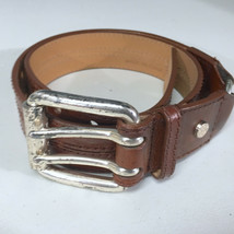 Michael Kors Heavy Brown Leather Womens Small Belt - $18.35
