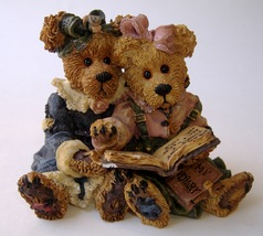 Boyds Bears Bailey & Becky Couple Figurine The Diary Book Edition 7E/2475  - $13.00