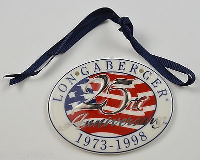 Primary image for Longaberger Collectors Club 25th Anniversary 1973 1998 Basket Tie-On Accent