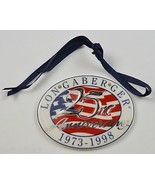 Longaberger Collectors Club 25th Anniversary 1973 1998 Basket Tie-On Accent - $19.99