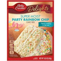 Betty Crocker Delights Super Moist Party Rainbow Chip Cake Mix 15.25 oz ... - $6.92