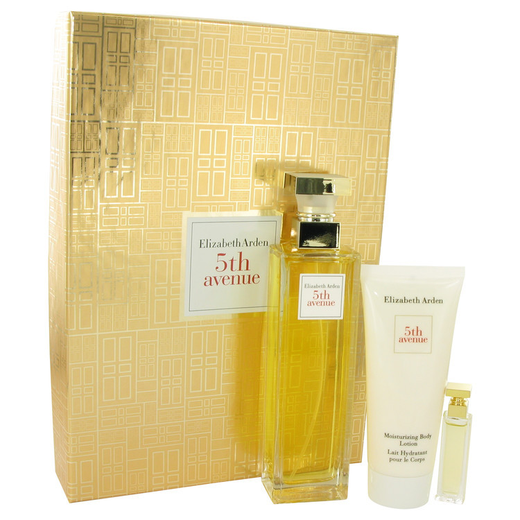 Elizabeth Arden 5th Avenue 4.2 Oz EDP Spray + .12 Oz Mini + 3.3 Oz Lotion Set