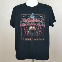 Harley-davidson Men's T-shirt Size Large Black Tampa RB8  - $12.86