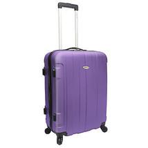 "Traveler's Choice Rome 25"" Hardcase Purple Lightweight Spinner Rolling L... - $64.34"