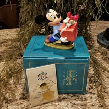 New Disney WDCC Mickey Mouse Presents for My Pals Pluto's Christmas Tree Figure - $79.95