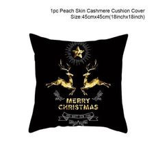 Cotton Linen Merry Christmas Cover Cushion Christmas Decor for Home - 92-1 - $12.99