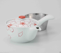 Hasami Porcelain : SAKURA - Kyusu tea pot w Stainless steel net - $70.13