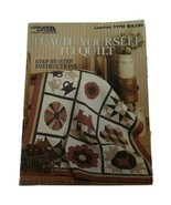 Leisure Arts TEACH YOURSELF TO QUILT #1179 Step-By-Step Instructions - $7.92