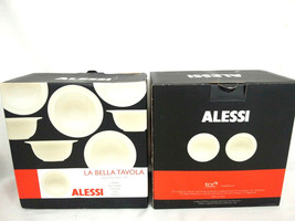 Alessi La Bella Tavola Bowls Ivory Design: Ettore Sottsass, 1993 ~ 4 Cereal - €28,49 EUR