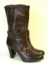 Frye Marissa Slouchy Leather Mid-Calf Boot Dark Brown Size 8M - $74.43