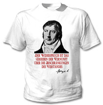 Georg Wilhelm Friedrich Hegel Zitate - New Cotton White Tshirt - $18.31