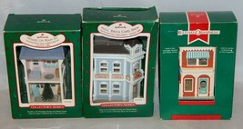 Hallmark Nostalgic Houses Ornaments 1987, 1988, 1999 Fourth, Fifth and Sixth - $19.80