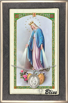 Miraculous Medal, Chain and Prayer Card