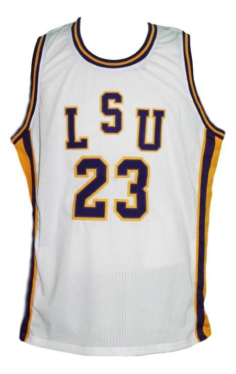 Pete maravich  23 college basketball jersey white  1