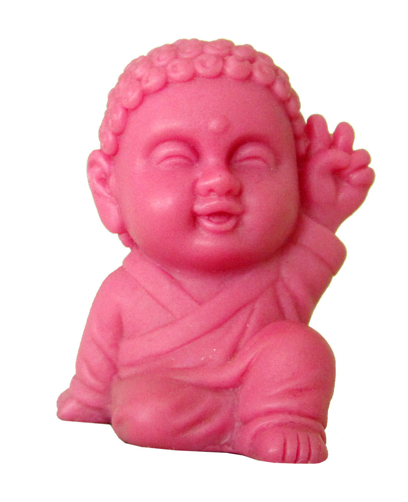 Pocket Buddha Figurine Toy Faith Peace Happiness Wisdom Love Harmony, set of 6