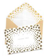 Marcel Schurman Thank You note Cards ivory gold glitter Dots 10 boxed set C - $16.77