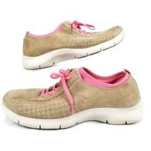 Dansko Elise Womens US 9.5 EUR 40 Shoes Sneaker Brown Suede Pink Slip Resistant - $29.99