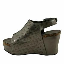 Pierre Dumas Hester-16 Pewter Women's Platform Wedge Sandals - $44.95