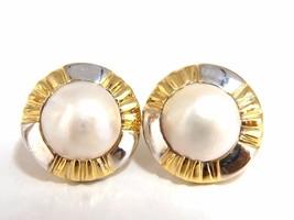 14kt Mabe Pearl Clip Earrings+ - $720.00