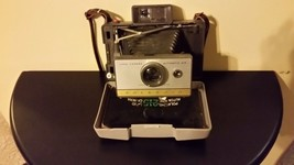 Camera POLAROID 215 LAND CAMERA With CASE And LEATHER STRAP Folding Vintage - $9.00