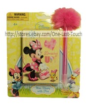 Disney 100 Sheets Mini Diary w/POM Pom Pink Pen Minnie Mouse I <3 Dressing Up - $2.98