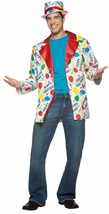 Birthday Suit Jacket+Hat Halloween Costume Party Clown Adult Standard Balloons - £44.06 GBP