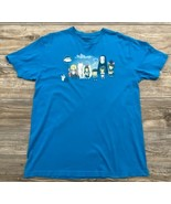 teeturtle Graphic Tee Adult Large Cotton By Ghibli Studios Turquoise Blue  - £12.26 GBP