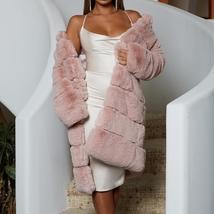 Women's High Fashion Long Faux Rabbit Fur Coat image 5