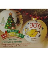 Christmas Design An Ornament Fine Porcelain Collectibles Holiday Crafts ... - $19.99