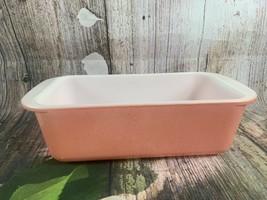 Vintage Pyrex Desert Dawn Speckled Pink Loaf Pan, #213 1-1/2 Quart - $18.69