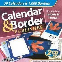 Calendar & Border Publisher [CD-ROM] Windows NT / Windows 98 / Windows 2... - $5.35