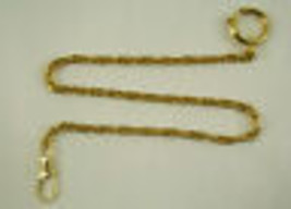 1  POCKET WATCH CHAINS STAINLESS  gold tone CLASP  RING CLIP NEW - $13.95