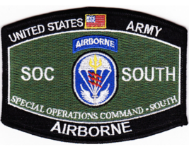 "4.375"" Army Soc Special Operations Command South Airborne Embroidered Patch - $23.74"