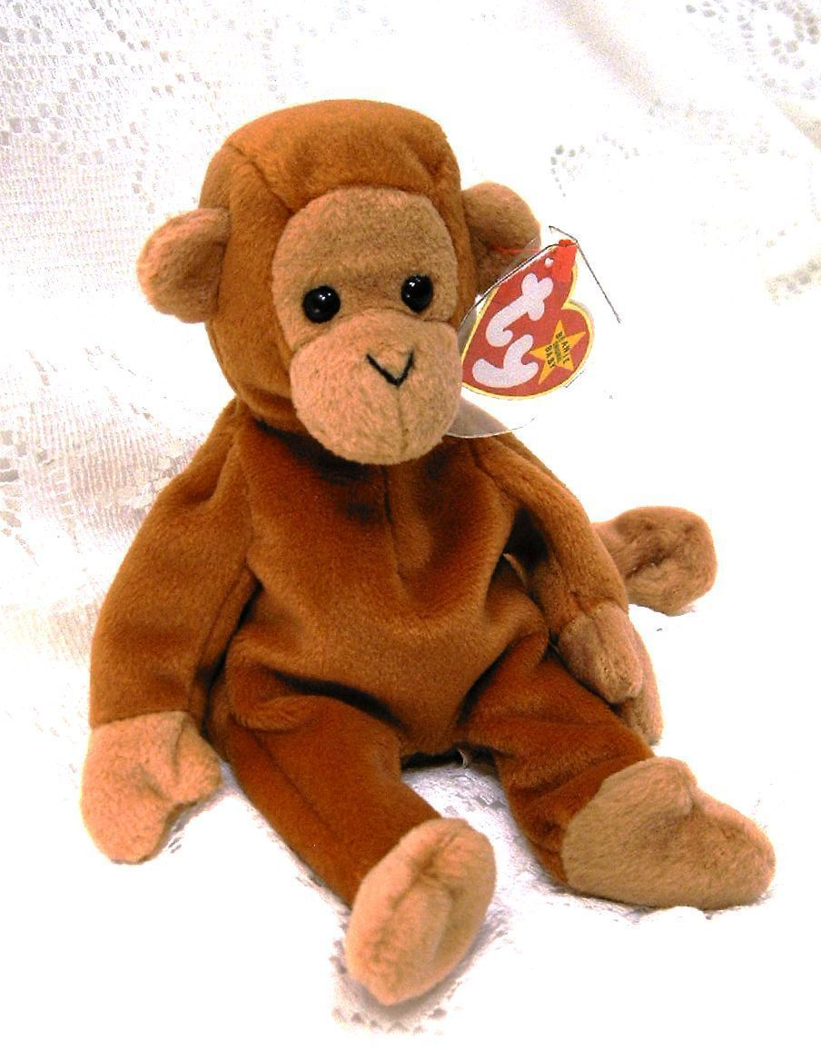 4865f1a27fa TY Beanie Baby BONGO Monkey w Curled Tail and 50 similar items
