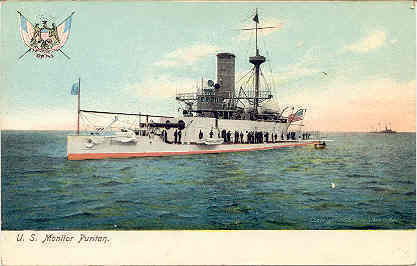 Naval Ship The Puritan 1906 Vintage Post Card