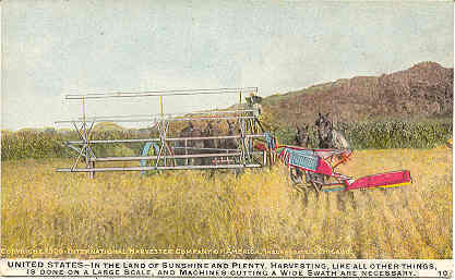 International Harvester Machines America 1909 Post Card