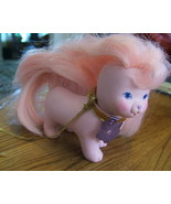 VINTAGE TCFC THOSE CHARACTERS LADY LOVELY LOCKS PINK DOG PUP - $7.00