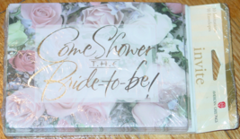 INVITE COME SHOWER THE BRIDE 10 CARDS & ENVELOPES AMERICAN GREETINGS NEW... - $2.50
