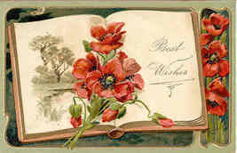 Best Wishes Paul Finkenrath of Berlin 1913 Post Card - $7.00