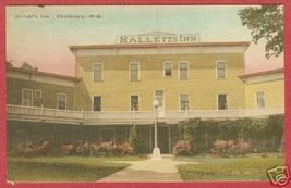 Charlevoix Mi Hallett's Inn HC Albertype Postcard BJs - $12.50